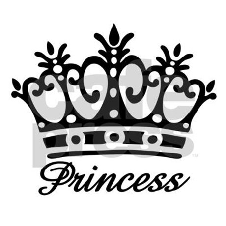 Crown black and white clipart - photo#44