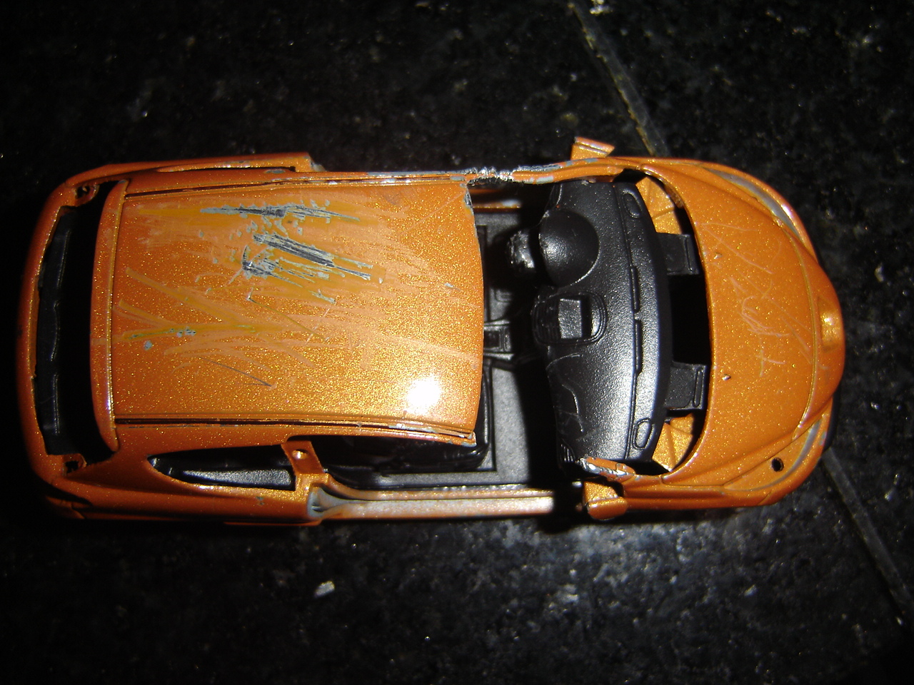 Toy Car Crash Destroying A