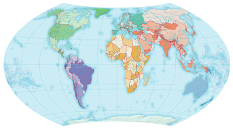 Clip Art World Map With Countries Clipart - Clipart Kid