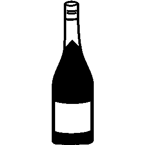 Liquor Bottle Black And White Clipart - Clipart Suggest