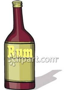 An Unopened Bottle Of Rum   Royalty Free Clipart Picture