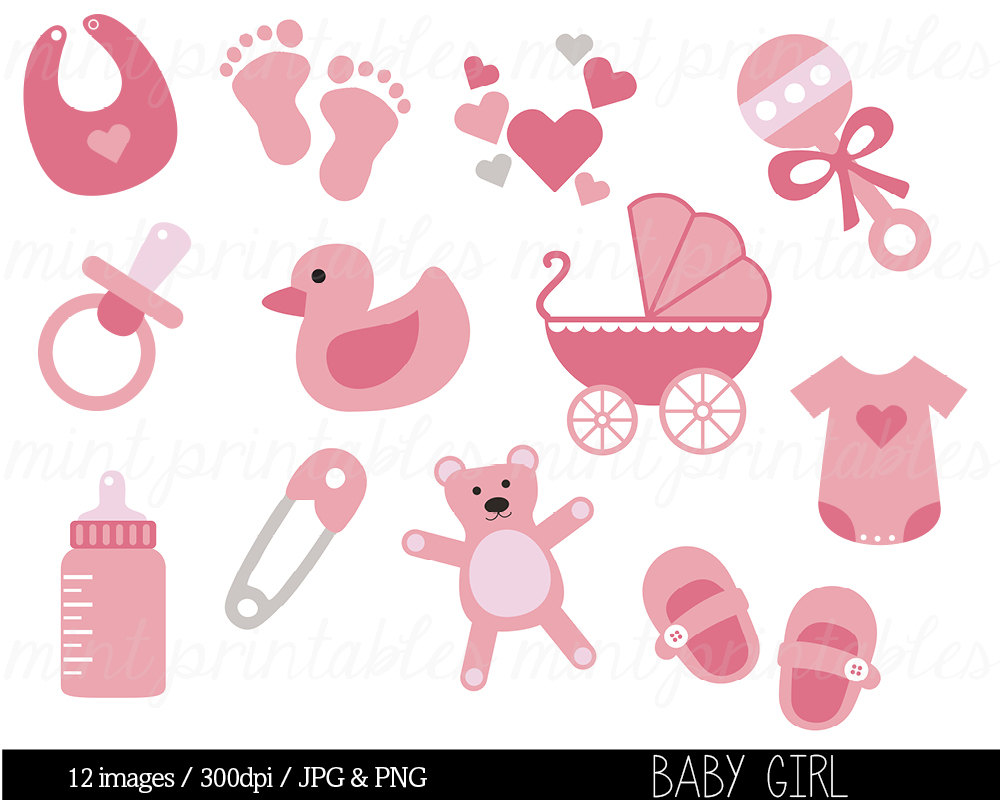 Baby Shower Clipart Baby Clipart Baby Girl Clip By Mintprintables