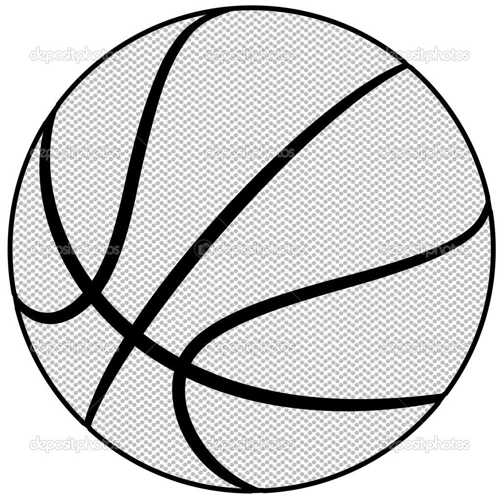 Line Art Basketball : Basketball black and white abstract clipart suggest