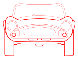 Car Blueprint Front Red   Http   Www Wpclipart Com Transportation Car