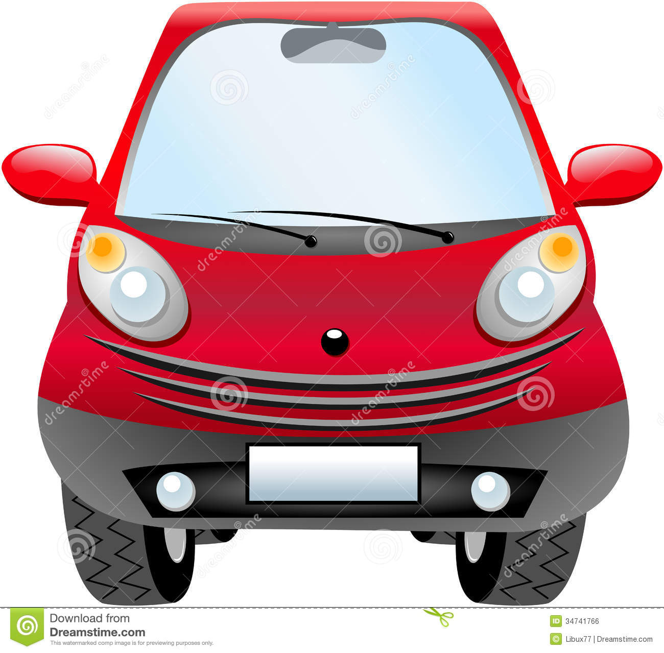 Car Front View Clipart Cartoon City Car