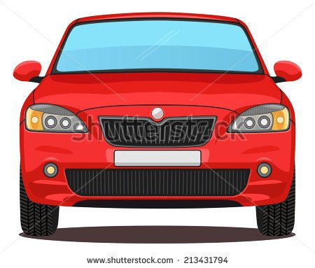 Car Front View Clipart Vector Red Car Front View