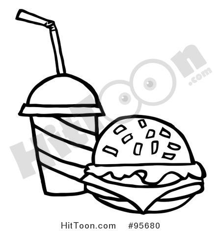 Cheeseburger Clip Art Black And White Burger Clipart   Vectors  1