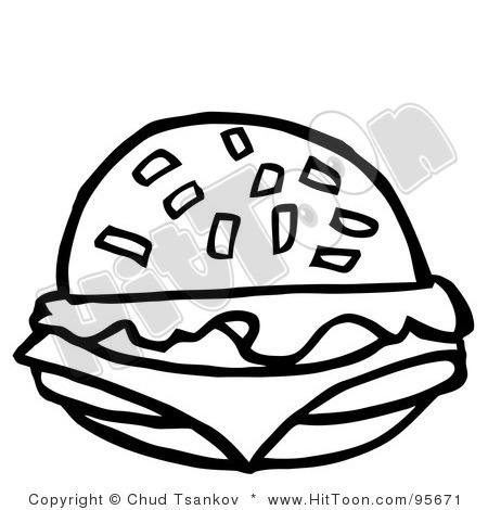 Cheeseburger Clip Art Black And White Cheeseburger Clipart