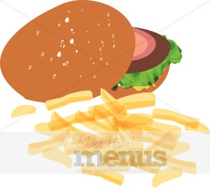 Cheeseburger With Fries Clip Art Burger And Fries Clipart