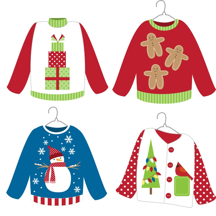 Clip Art Ugly Christmas Sweater Party Clipart - Clipart ...