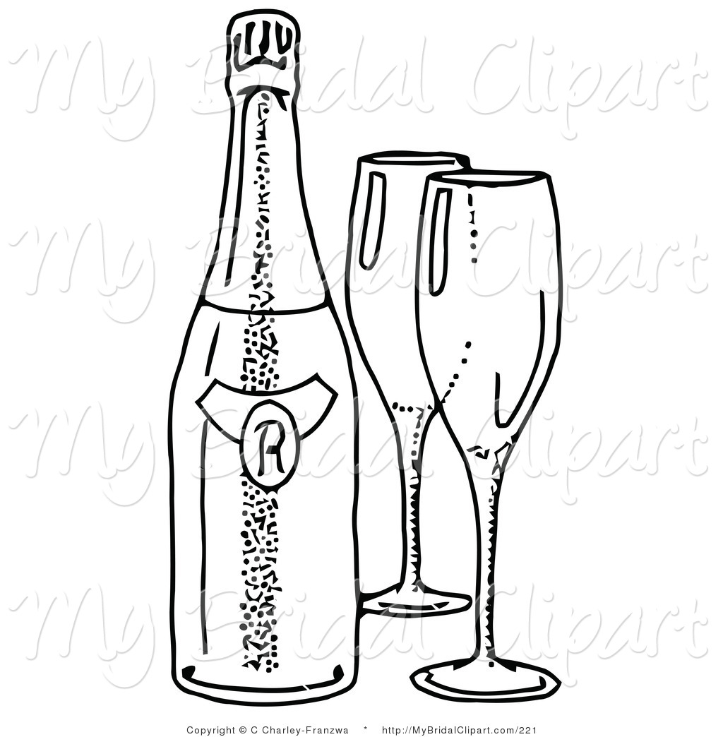 Liquor bottle black and white clipart clipart suggest for Coloring pages of bottles