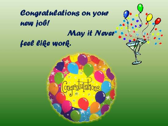 Congratulations On Getting A New Job  Free New Job Ecards   123