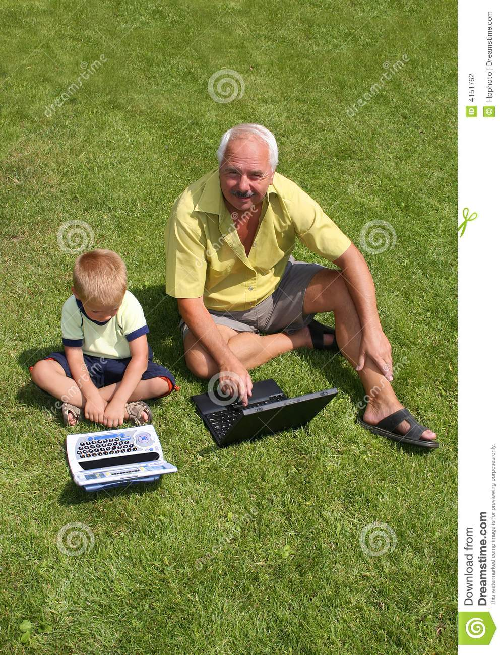 Grandfather And Grandson Stock Photography   Image  4151762