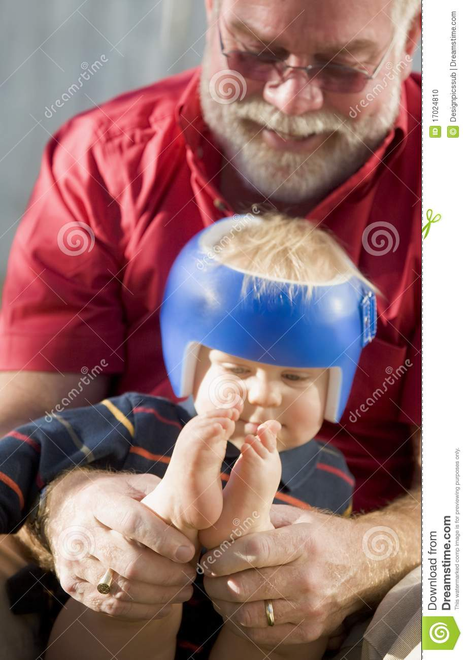Grandpa Playing With Grandson Stock Photo   Image  17024810