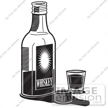 Liquor bottle black and white clipart clipart suggest for Liquor bottle art