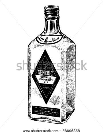 Black and white liquor bottle clipart clipart suggest for Liquor bottle art