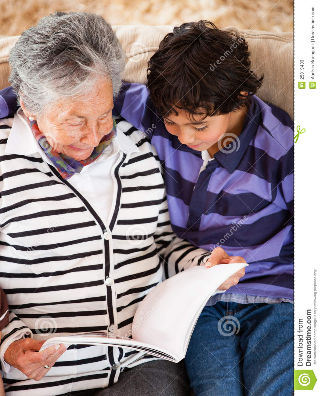 More Similar Stock Images Of   Grandmother Reading A Story