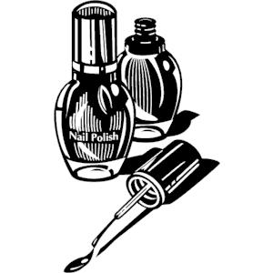 clip art black and white nail polish clipart clipart suggest