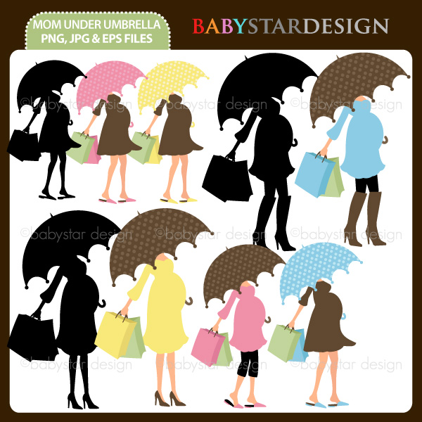 Single Clipart Baby Shower Mom Mom To Be Umbrella Pregnant Woman