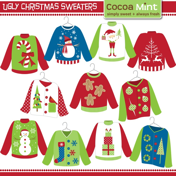 Ugly Christmas Sweater Clip Art   Redneck Ugly Sweater Party Ideas