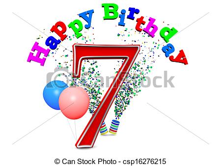 7th Clipart Stock Illustration   Happy 7th