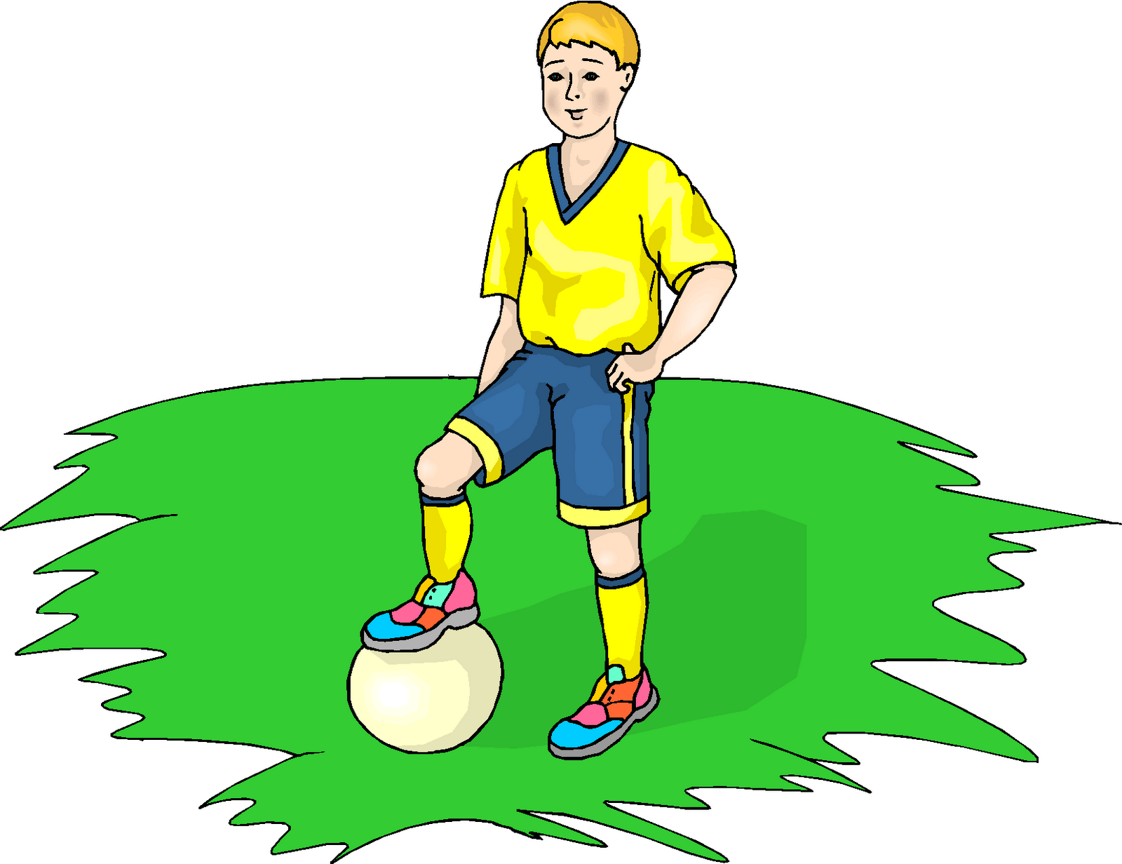 Boy Play Football Free Clipart