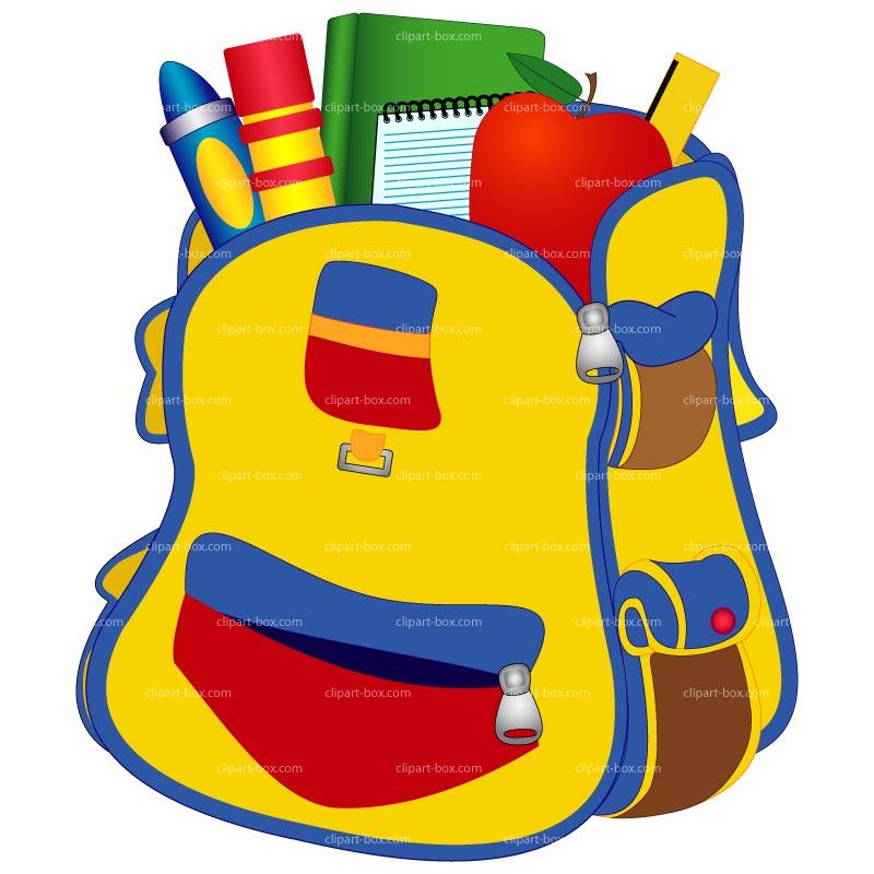 School Bag Clipart - Clipart Kid