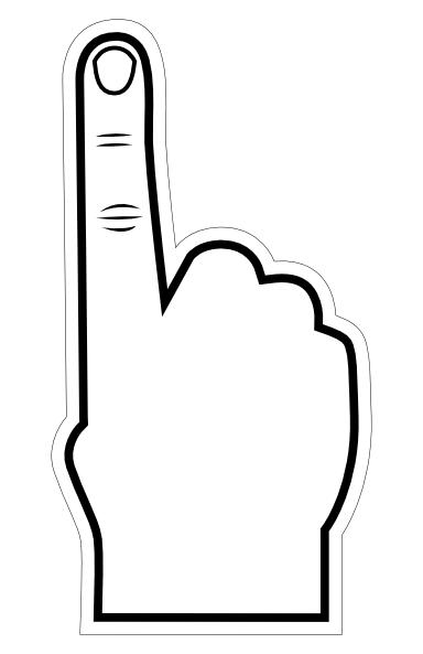 Number 1 Finger Clipart