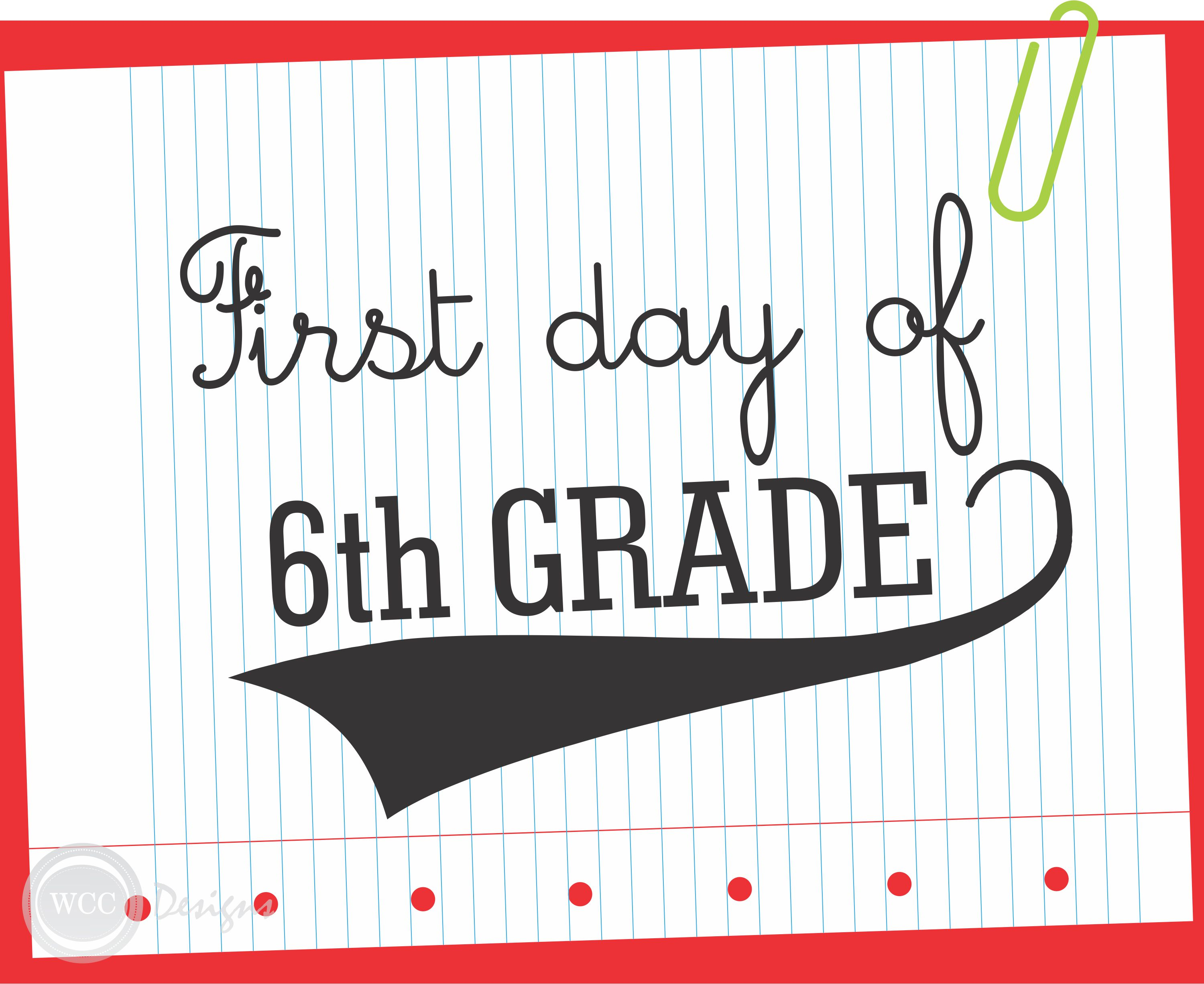 Free First Day Of School Printable Signs From Wcc Designs   Catch My