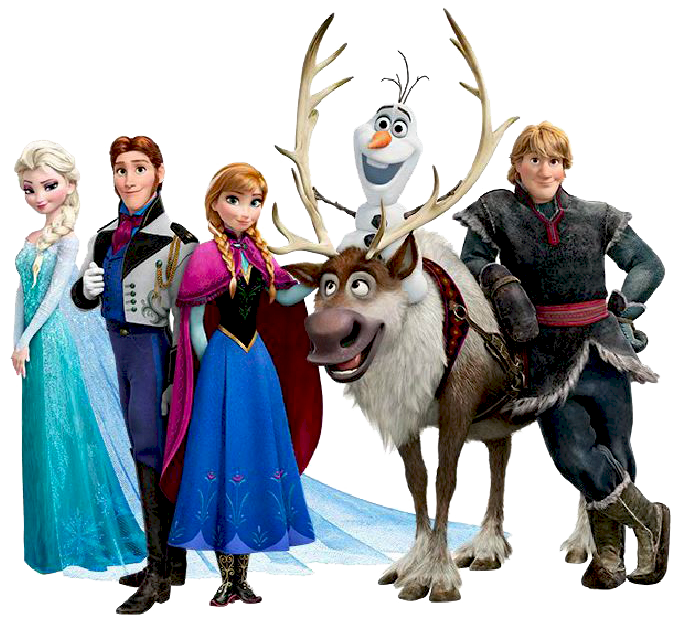 Frozen Group Clipart