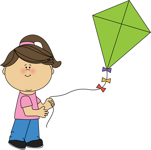 Girl Flying Kite Clipart Clipart Panda Free Clipart Images