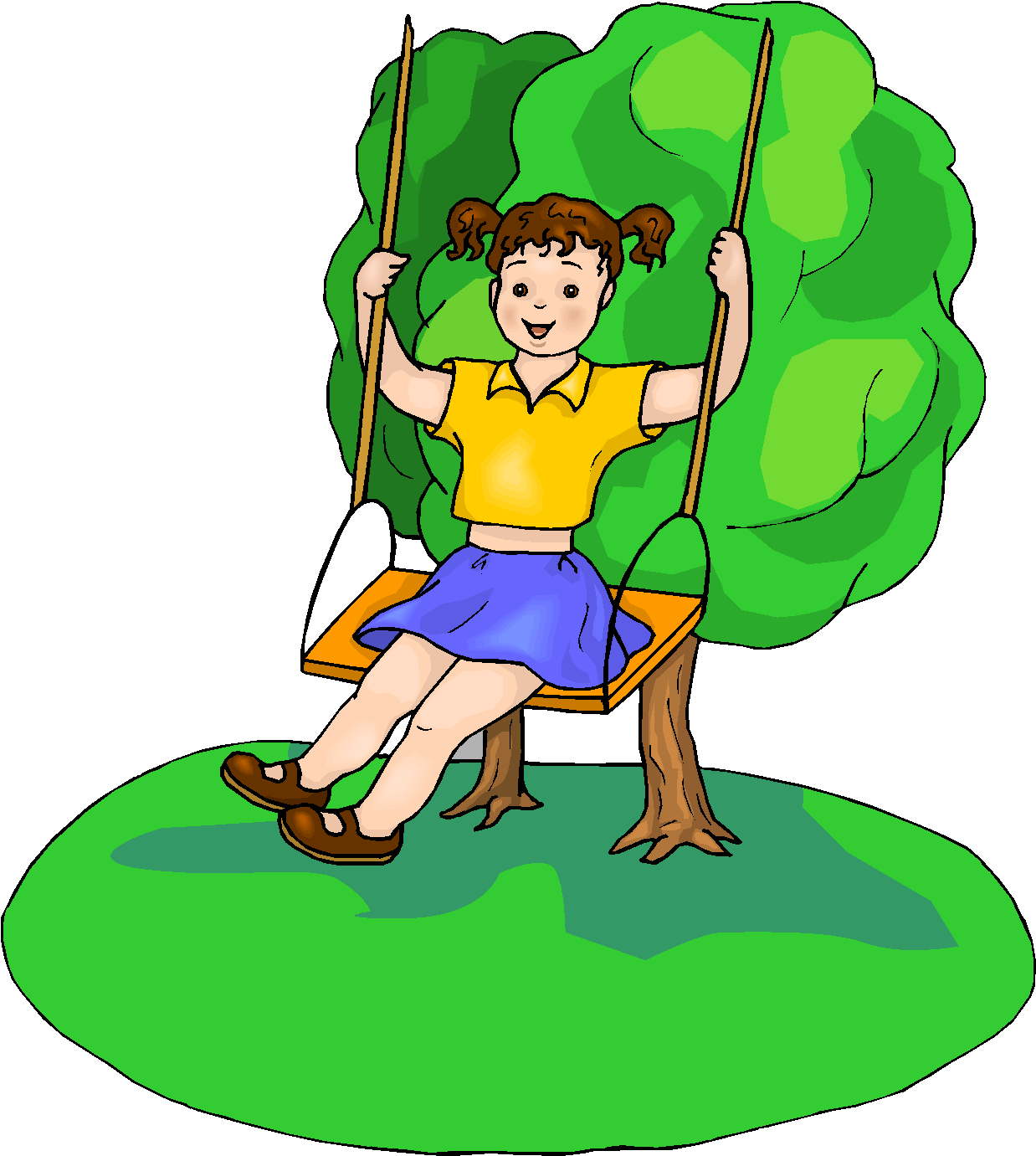 Girl Play Swings Free Clipart   Free Microsoft Clipart