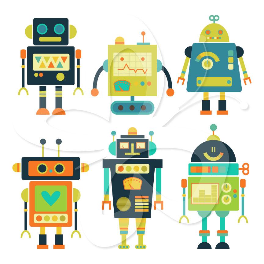 cute robot clipart - photo #38