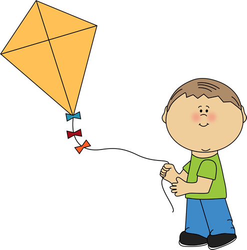 clipart kite flying - photo #5