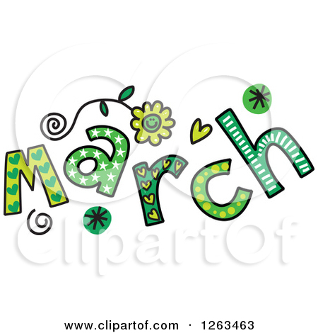 March Month Clip March Fancy Clipart