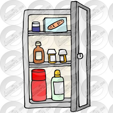 Picture For Classroom   Therapy Use   Great Medicine Cabinet Clipart