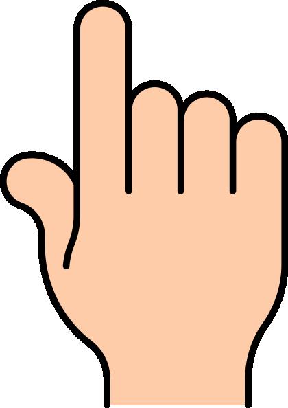 1 Finger Clipart