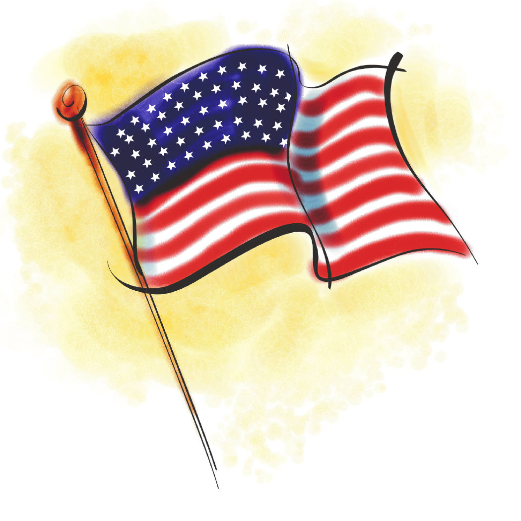Printable American Flag Clipart Image Click For An Alt Size Of This