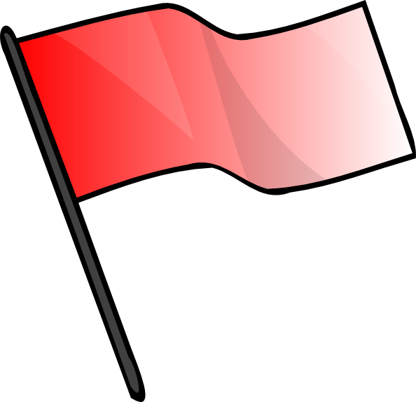 Red Flag Clip Art At Clker Com   Vector Clip Art Online Royalty Free
