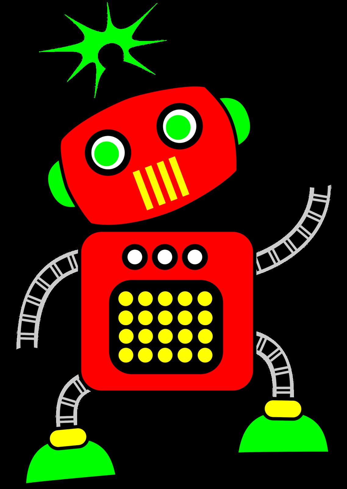 Cute Robot Clip Art