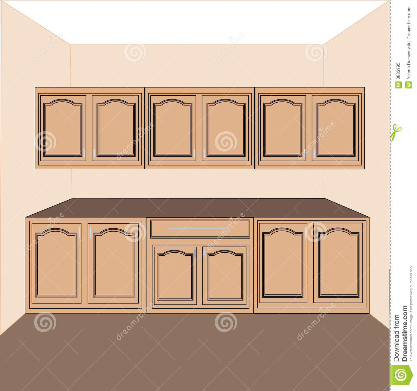 Kitchen Cabinet Clipart