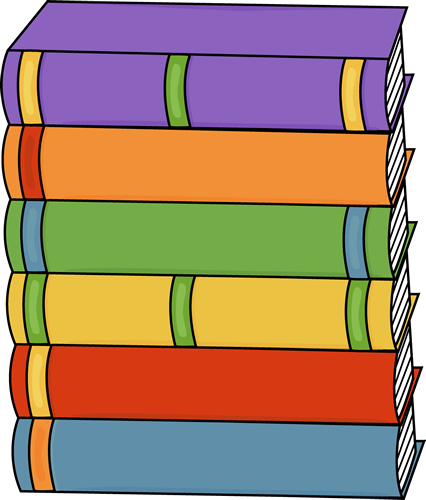 Tall Stack Of Books Clip Art Image   Tall Stack Of Hardcover Books In