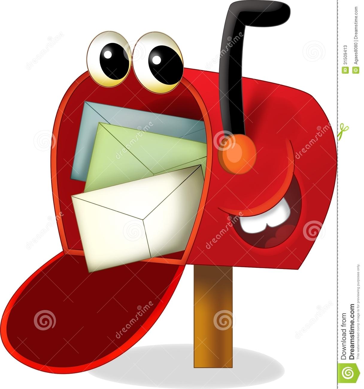 cartoon mailbox clipart clipart suggest