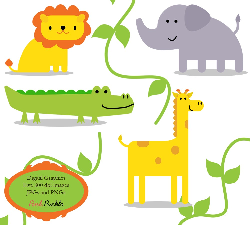 To Jungle Animals Clip Art Clipart Zoo Safari Wild Animals Clip