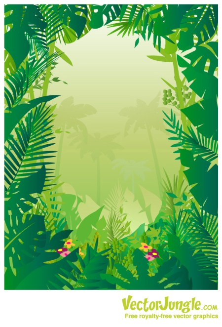 Tropical Jungle Clip Art And Safari Clipart