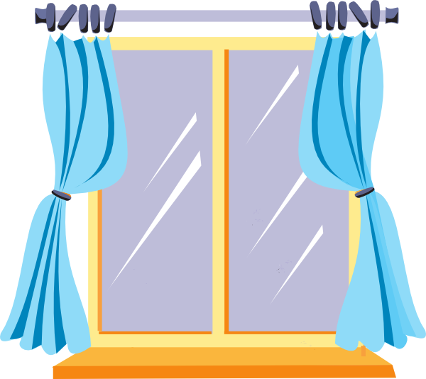 Window With Curtains Clipart   Clipart Panda   Free Clipart Images