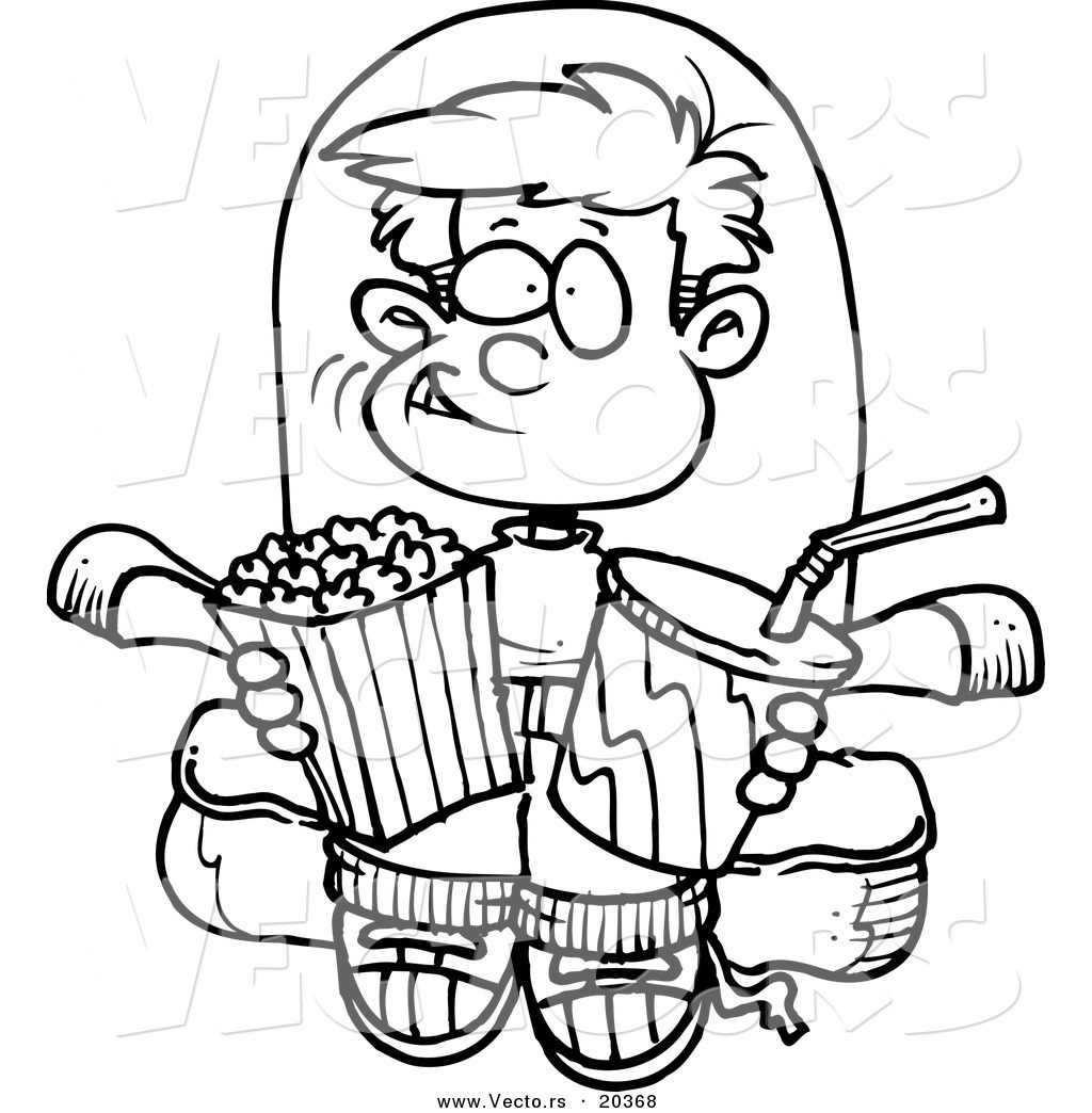 movie time coloring pages - photo #1