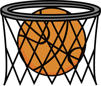 Basketball In Net Clip Art   Basketball In Net Image
