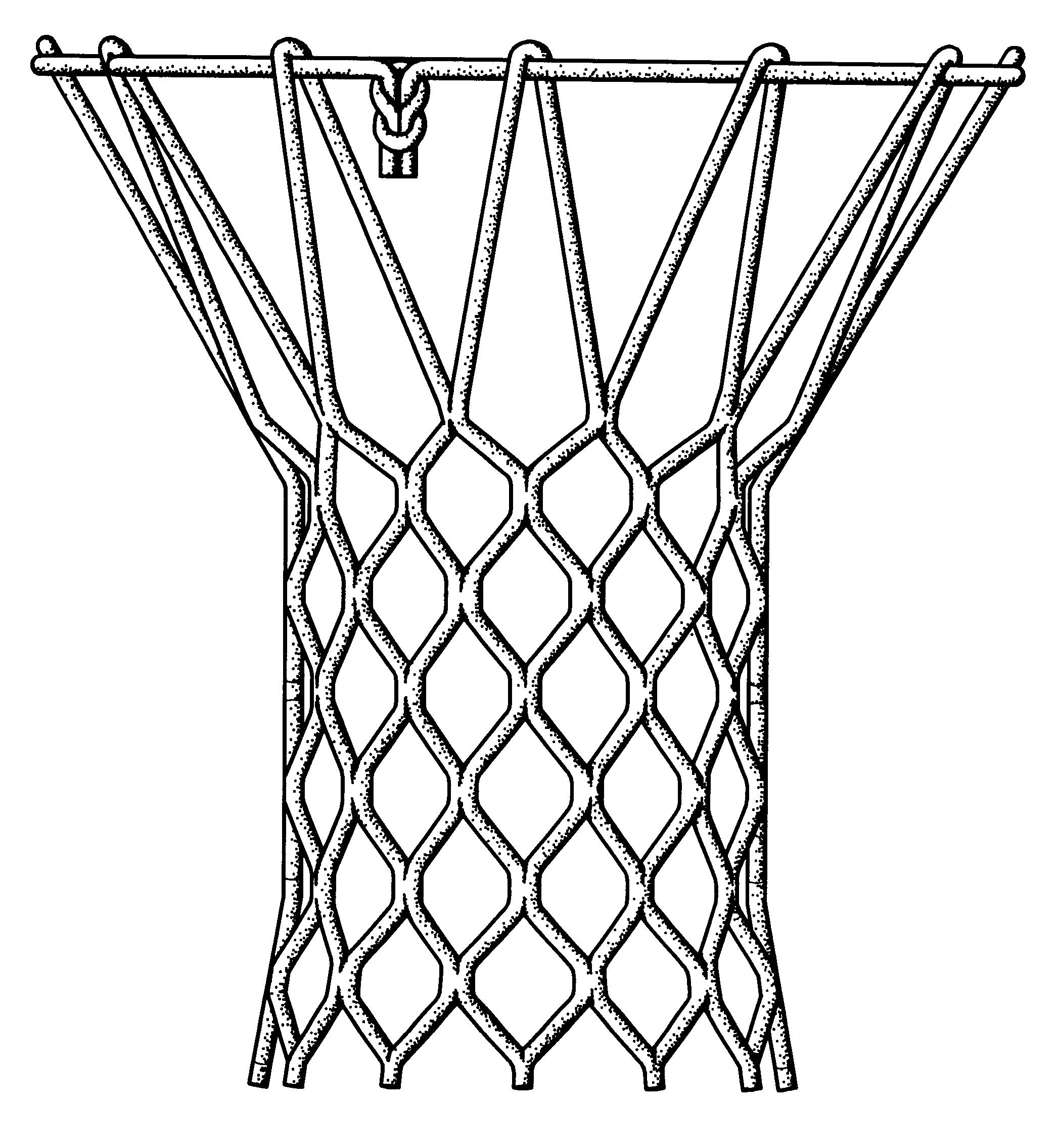 how to draw a basketball net sideways