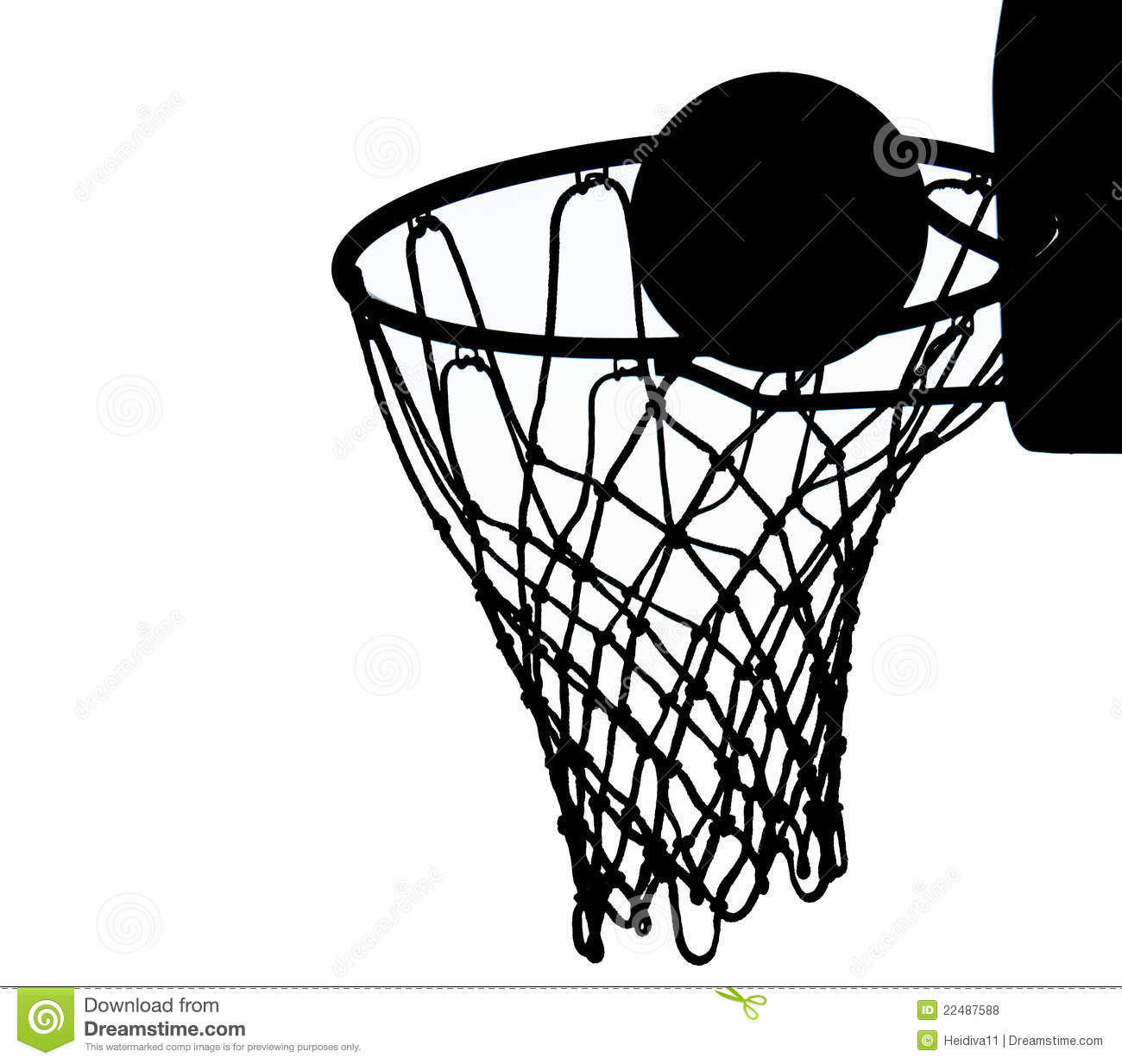 Basketball net vector art
